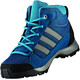adidas Hyperhiker Mid Shoes Kids blue nightgrey threemystery petrol